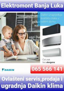 Daikin reklamni materijal za Elektromont Banja Luka